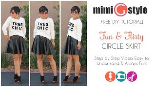 FREE DIY Tutorial! Circle Skirt w/ Mimi G