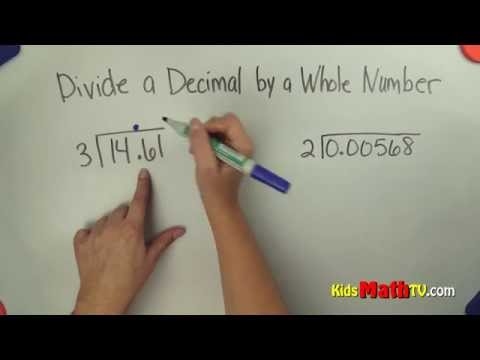 Dividing Decimals by Whole Numbers, tutorial for 6th grade math