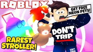 I Got the RAREST STROLLER EVER in Adopt Me! NEW Jungle Update NEON PARROT (Roblox)