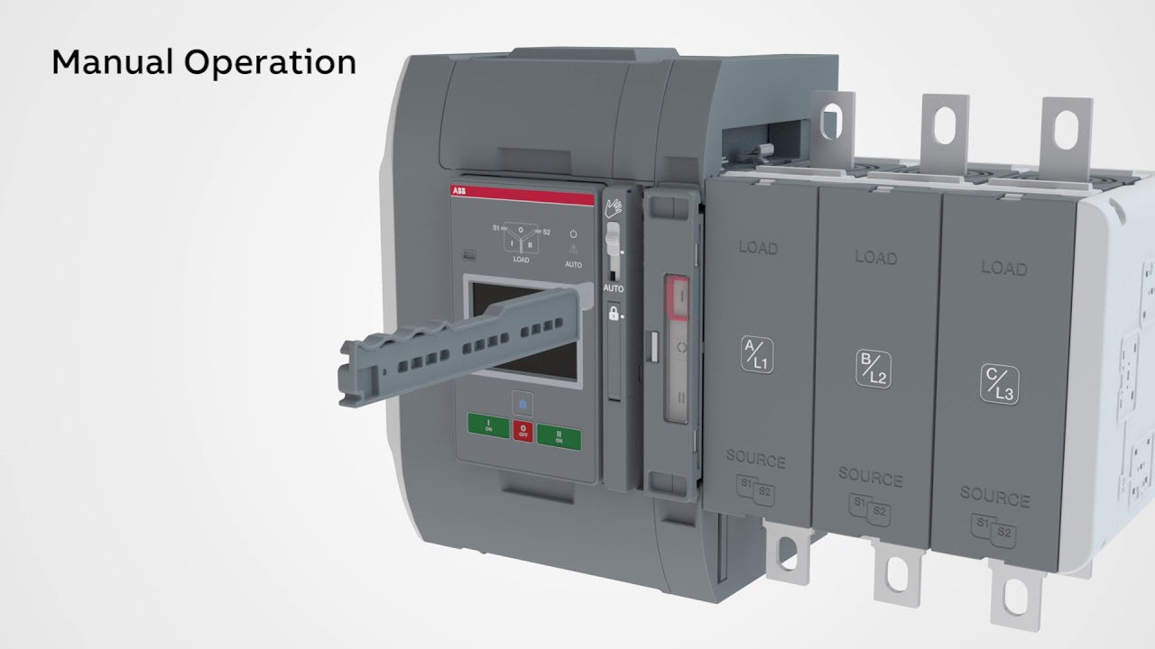 Manual and automatic operation - TruONE ATS on