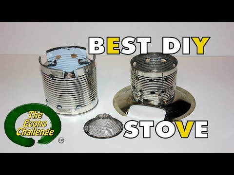Best DIY Stove for Backpacking, Hiking and Wilderness Camping by Econo Challenge