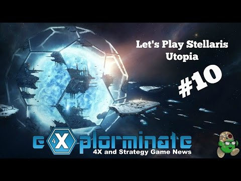 Let's Play Stellaris Utopia. Part 10. Army Pea Republic joins a Federation