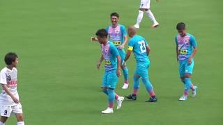前半7分、跳ね返ってきたボールを吉田豊がダイレクトでゴール上段に決め...