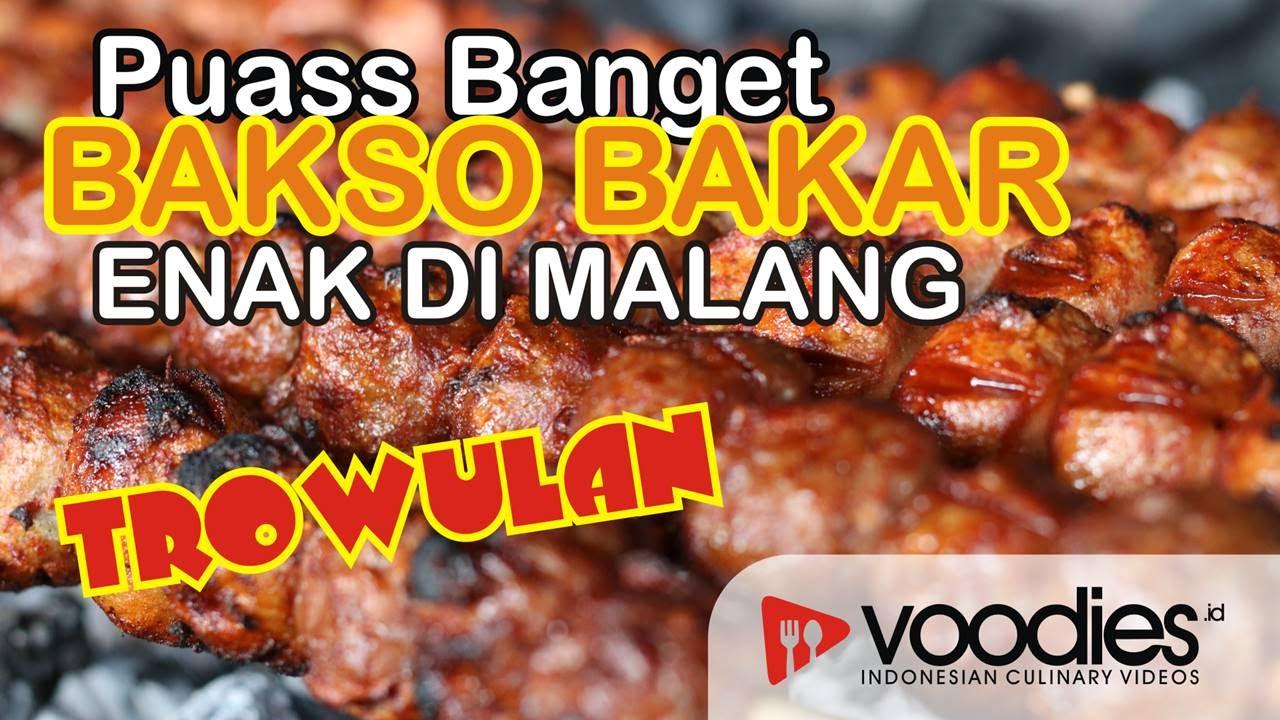 Kuliner Malang Puas Banget Bakso Bakar Malang Enak Di Bakso Bakar Trowulan Youtube