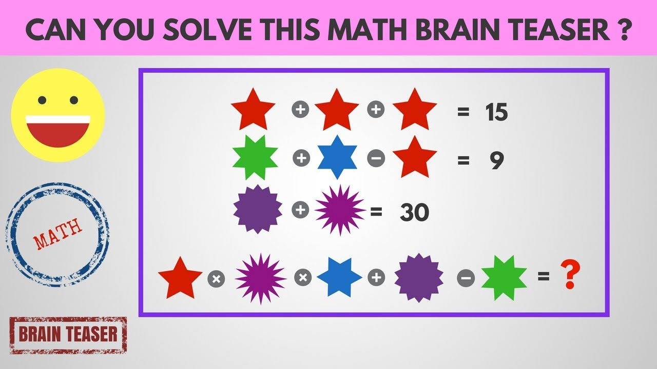 Math Brain Teaser | Funny Trick Questions Answers | Maths ...