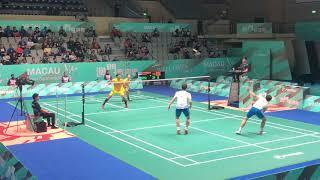 2018 Macau Open MD Lee Yong Dae/Kim Gi Jung vs Lu Ching Yao/Yang Po Han excellent angle 60FPS 1080P