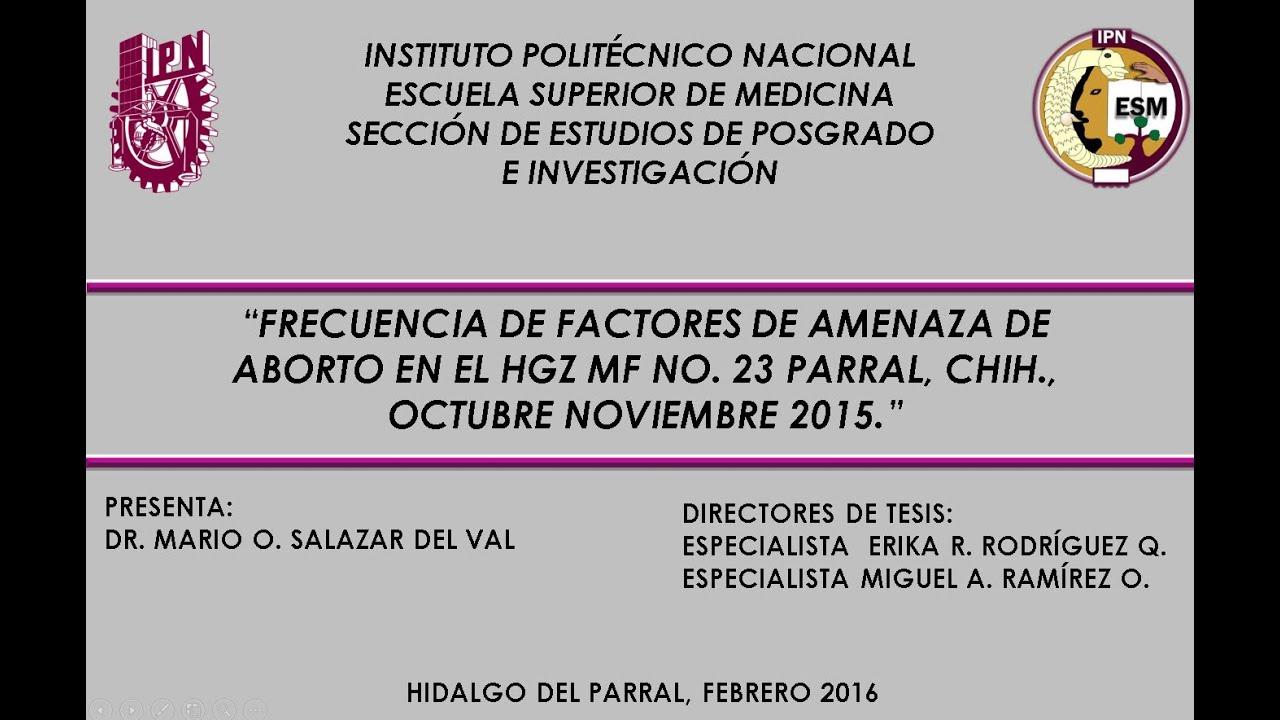 PRESENTACION EN POWER POINT DE TESIS DE GRADO DE MEDICINA, MEXICO ...