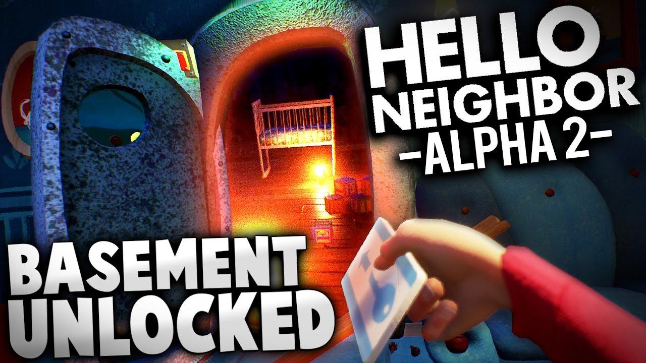 hello neighbor alpha 2 weu0027re in the basement hello neigbor alpha 2 gameplay ending youtube - Basement
