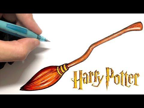 Comment Dessiner Le Nimbus 2000 Dans Harry Potter Youtube