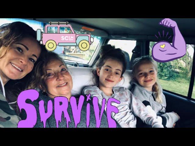 24 uur overleven in papa's Jeep!🔐😱♥️😂💪Deel 1