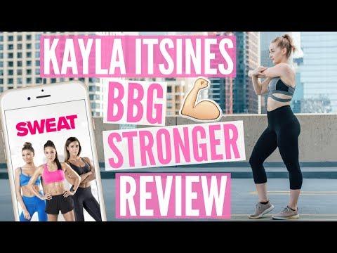 Kayla Itsines BBG Stronger + SWEAT App Review
