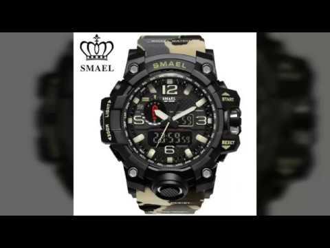 9cb19c1370b Relógio Smael Camuflado 1545 o mais top do mercado - YouTube