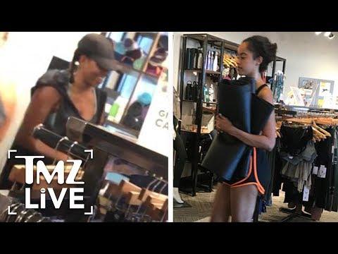 Michelle & Malia Obama  Hawaiian Yoga I TMZ LIVE