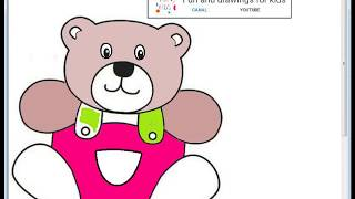 Coloring a lovely teddy bear for Babies with relaxing music for children