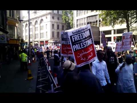 gaza demo london 26 july 2014 35 minute long procession and still going