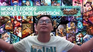 35 Heroes Voice Impression on Mobile Legends: Bang Bang