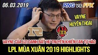 [LPL 2019] RNG vs FPX Game 2 Highlights   Fan hét vang khi Uzi cầm Vayne, Poppy tỏa sáng rực rỡ