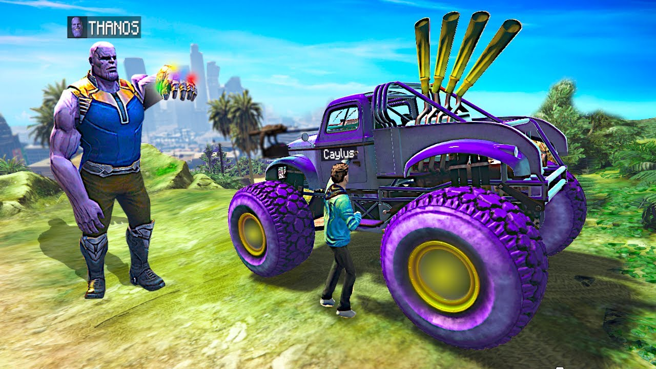 I Stole THANOS' CARS In GTA 5.. (Mods)