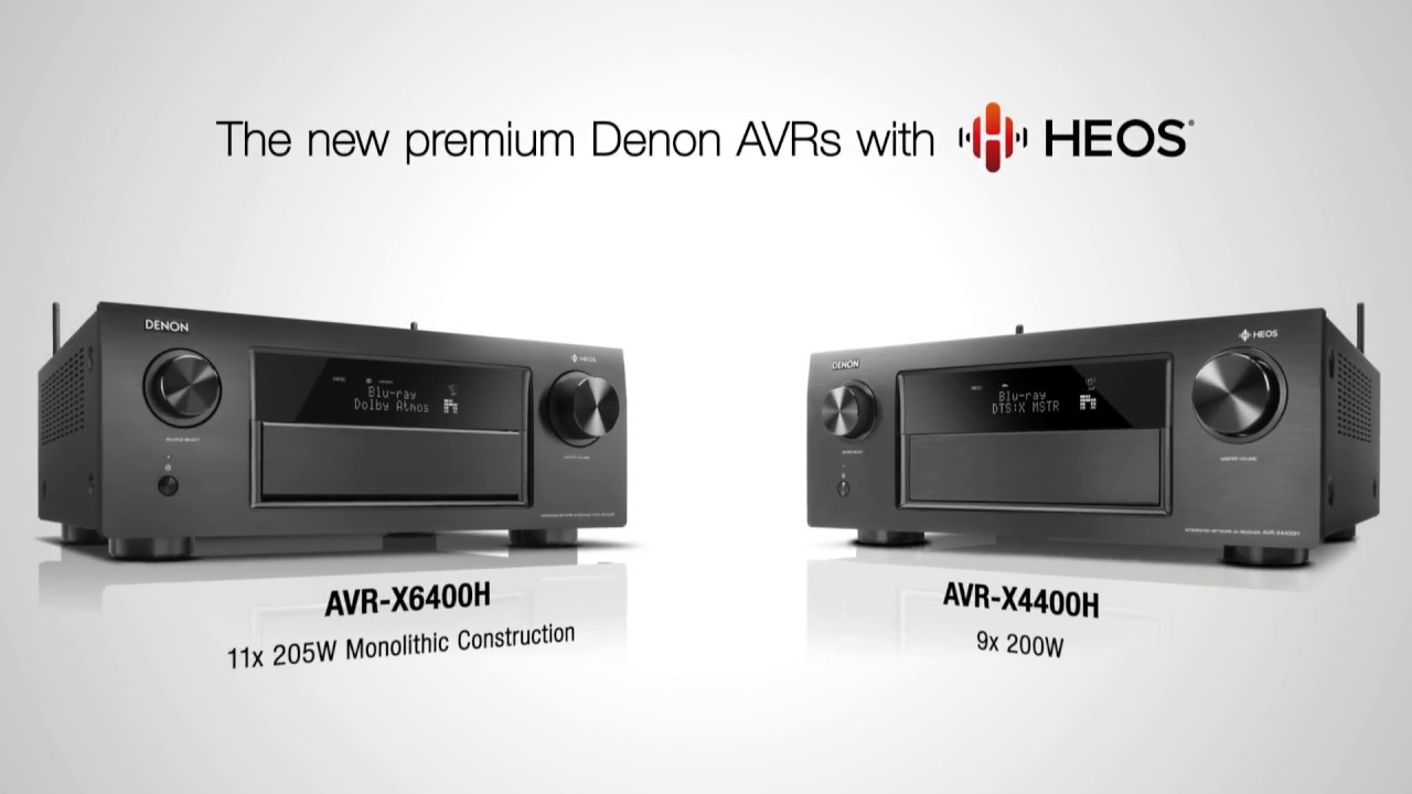 AVR-X6400H and AVR-X4400H | Premium AV Surround Receivers with HEOS built-in