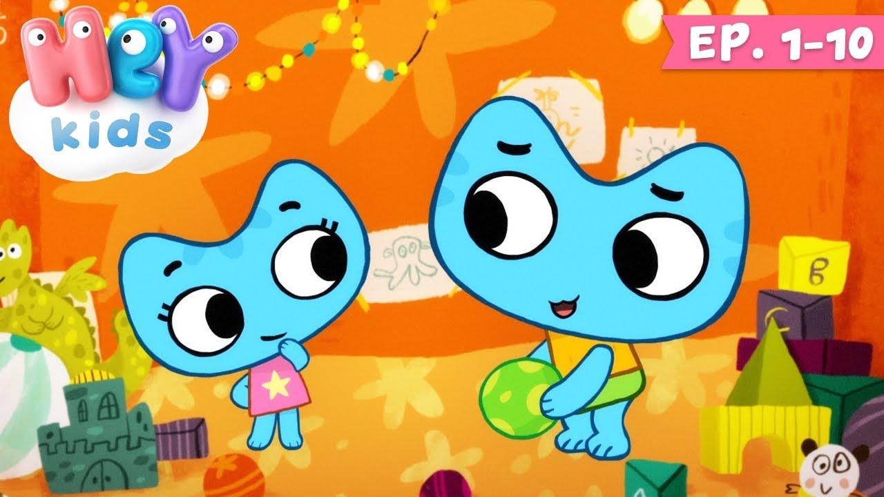 Desene animate educative cu pisici - Kit si Keit    Ep. 1-10   HeyKids