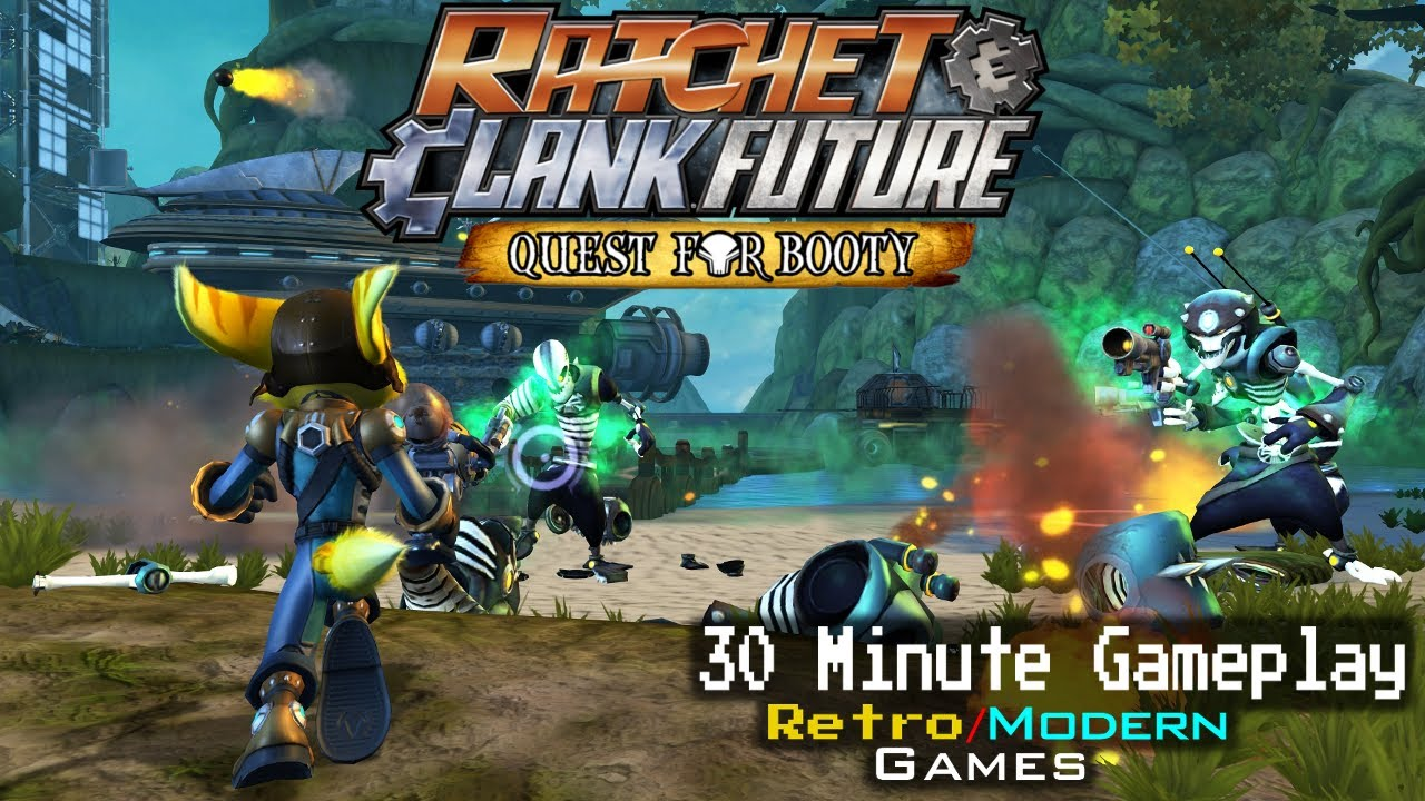 Ratchet Clank Future Quest For Booty Ps3 30 Minute Gameplay