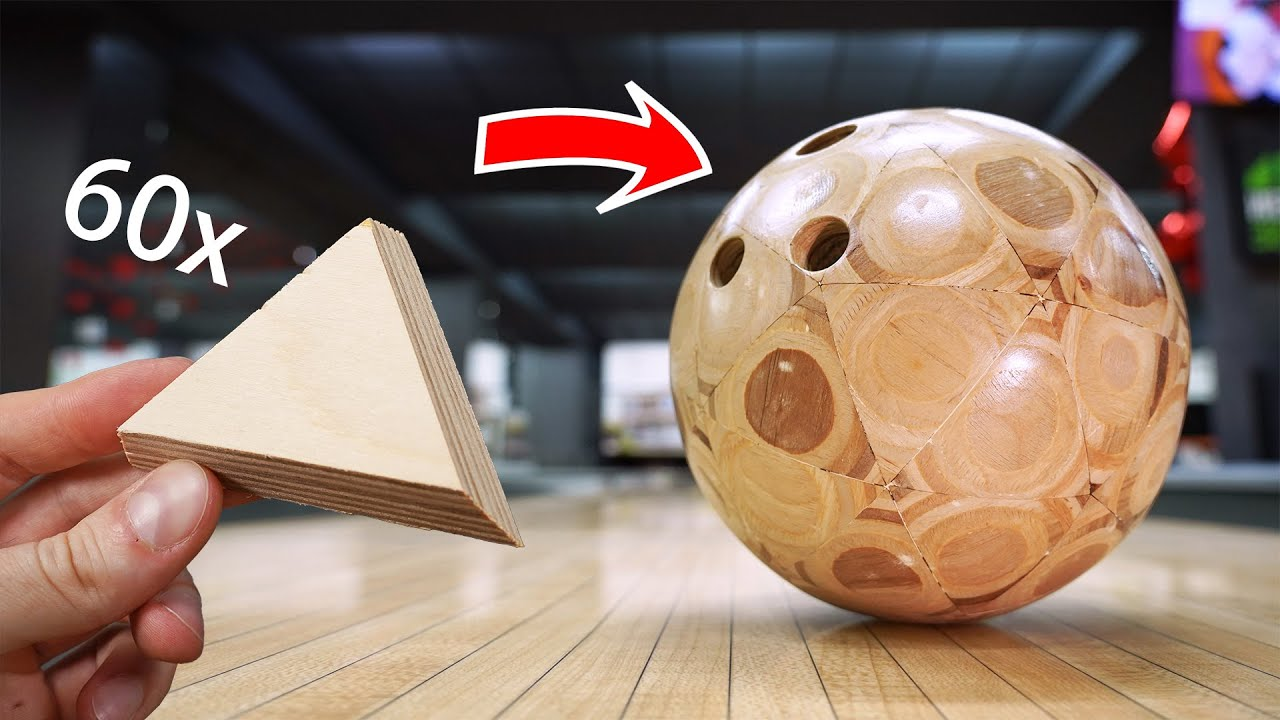 I Turn 60 Plywood Triangles into a Bowling Ball