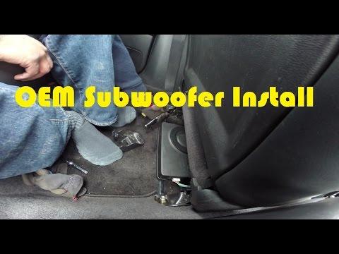 how to install oem subwoofer 2005 2009 subaru legacy youtube rh youtube com