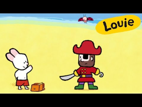 Cartoon for kids - Louie draw me a Pirate  HD | Learn to draw