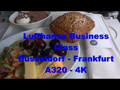 Lufthansa Business Class Dusseldorf - Frankfurt A320 4K