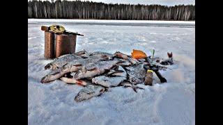 Зимняя рыбалка ловля на Чёртик с утра лучше на малинку Белоярское водохранилище