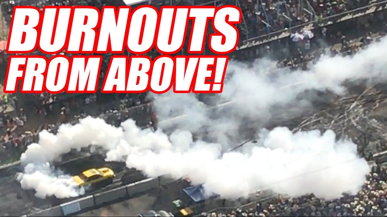 Watching Burnouts From a Helicopter!