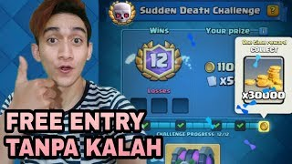 FREE ENTRY !! WIN 12X SUDDEN DEATH CHALLENGE PAKE DECK INI - Clash Royale Indonesia