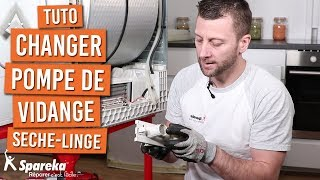 Comment changer la pompe de vidange d'un sèche linge