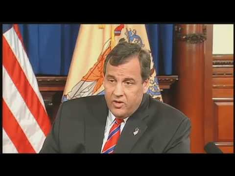 Gov. Chris Christie Holds News Conference, Announces Resignation Of Port Authority Chairman ...