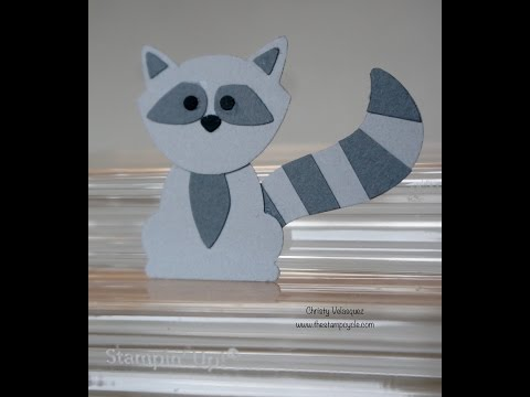 Critter Mania Using the Fox Builder Punch from Stampin Up! Episode #3 - Raccoon Critter