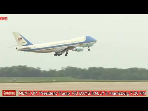 President Donald Trump Departs Washington DC Before Evening Rally in Pennsylvania, Harrisburg