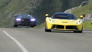 Bugatti Chiron vs Supercars at Highlands