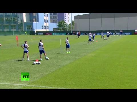 Тренировка сборной России по футболу — LIVE