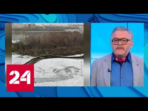 Плоскостопия нет: в Омске найден гигантский след на свежем снегу - Россия 24