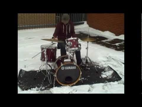 Extreme snow drumming ft Dean Herbert!