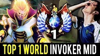 TOP 1 RANK in World mid Invoker vs Miracle Shadow Fiend