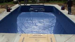 How To Install A Vinyl Swimming Pool Liner On A Pool Kit From Pool Warehouse.