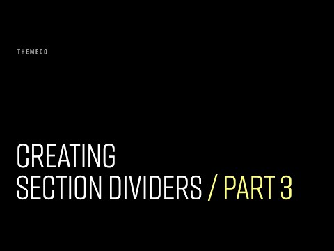 Section Dividers (Part 3)