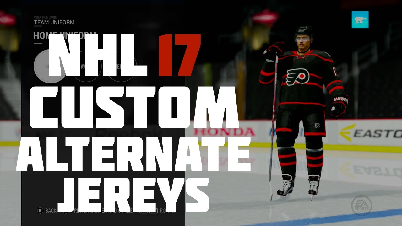 5b74c5a3c63 NHL 17 Custom Alternate Jerseys - YouTube