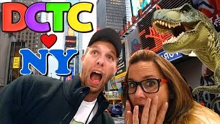 Toy Hunting in NEW YORK CITY - Giant T-Rex, Frozen Walking Sven and a HUGE ToysRus Ferris Wheel