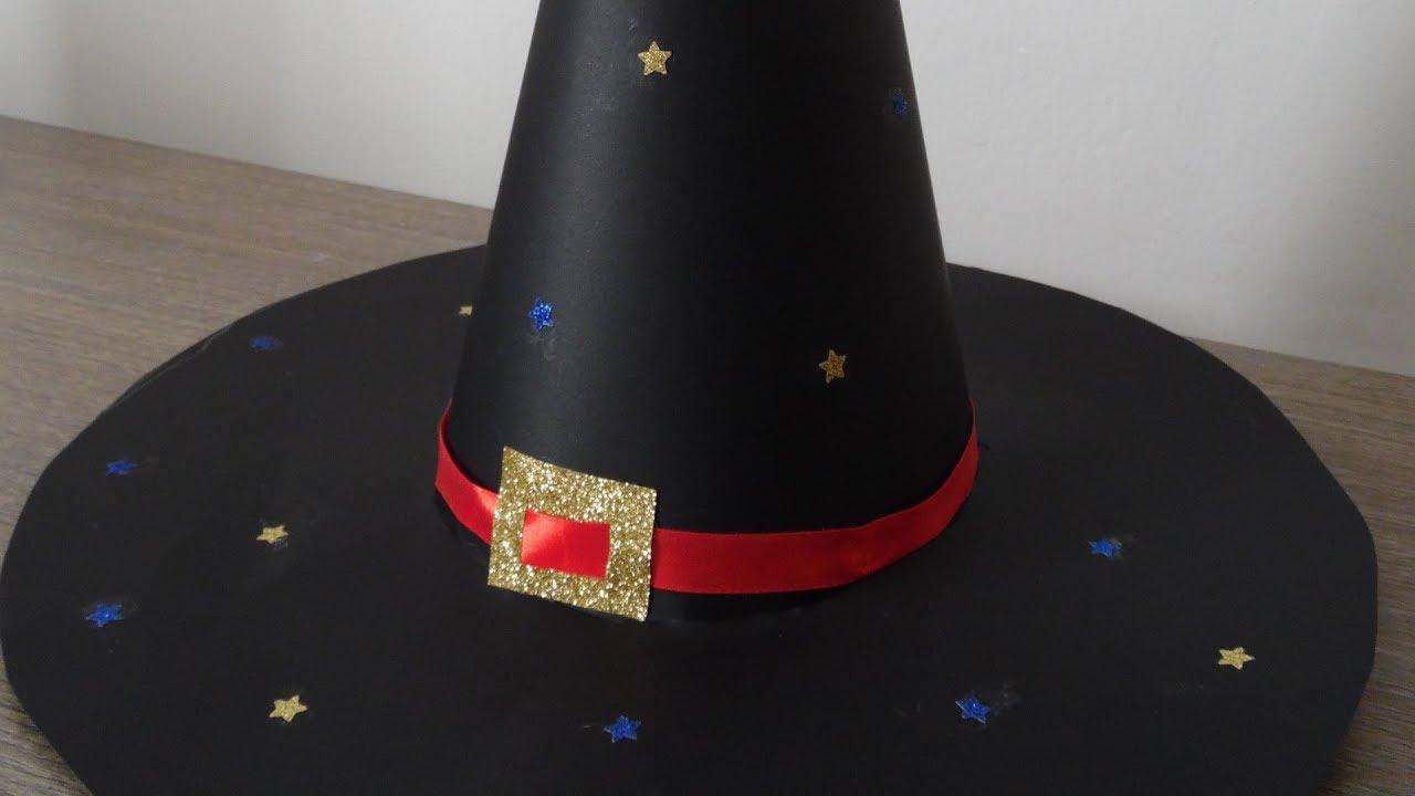 Tutorial cappello da strega in cartoncino - YouTube ce92f5cb5c39