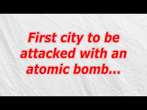 First city to be attacked with an atomic bomb (CodyCross Crossword Answer)