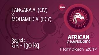 Round 2 GR - 130 kg: A. MOHAMED (EGY) df. A. TANGARA (CIV) by FALL, 11-0