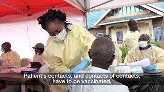 Team work is crucial in the struggle against ebola virus north kivu, democratic republic of congo. for every alert about a new person poten...