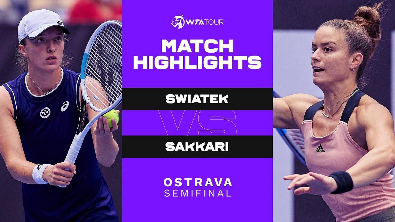 Download Iga Swiatek vs. Maria Sakkari | 2021 Ostrava Semifinal | WTA Match Highlights